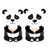 Panda Set Vector Illustration Photos stock