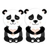 Panda Set Vector Illustration Illustration Stock