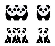 Panda set Stock Photo