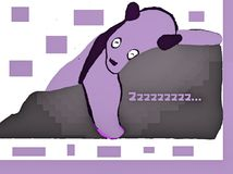 Panda Sleeps pourpre Images stock