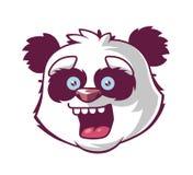 Panda smiles. character`s head. royalty free illustration