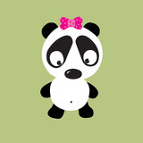 panda smutna Obrazy Royalty Free