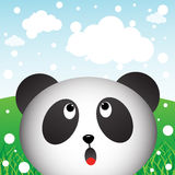 Panda and snow in the forest Royalty Free Stock Photography