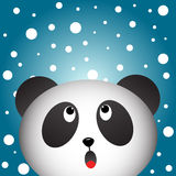 Panda and snowy background Royalty Free Stock Photography
