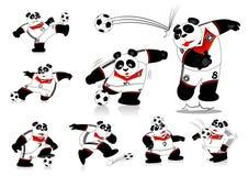 Panda Soccer Alemanha toda a ação ilustração do vetor