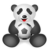 Panda soccer ball Royalty Free Stock Photo