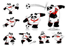 Panda Soccer germany All Action Royalty Free Stock Images