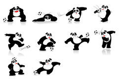 Panda Soccer Style Lizenzfreie Stockbilder
