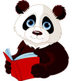 Panda som läser en bok Royaltyfri Foto