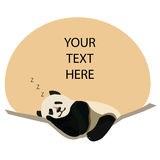 Panda sonnolento Immagini Stock
