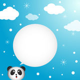 Panda speaking with a speech bubble Royalty Free Stock Images