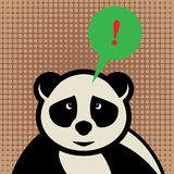 Panda with speech bubble Stock Image