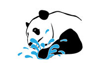 Panda splash Stock Images