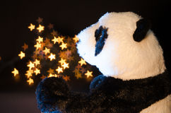 Panda and stars Stock Photos
