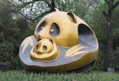 Panda Statue Images stock
