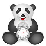 Panda stopwatch Royalty Free Stock Photos