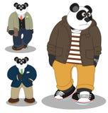 Panda stylu życia moda royalty ilustracja