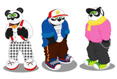 Panda stylu życia moda Zdjęcie Stock