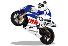 Panda stylu życia motocykl Zdjęcia Royalty Free