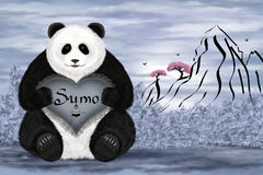 Panda sumo Royalty Free Stock Photo