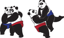 Panda sumo Royalty Free Stock Photography