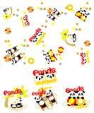 Panda sur la plage Image stock