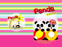 Panda sur la plage Photographie stock