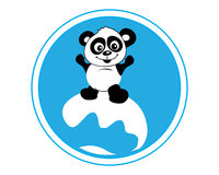 Panda surfing Stock Photography