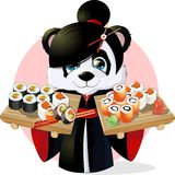 Panda sushi Stock Image