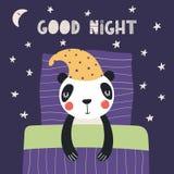 Panda sveglio di sonno royalty illustrazione gratis