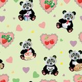 Panda Sweet Seamless Imagem de Stock Royalty Free