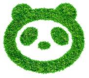 Panda symbol from grass Stock Photo