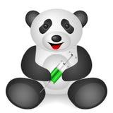 Panda syringe Stock Image