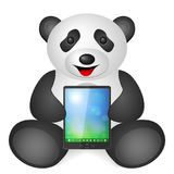 Panda tablet Stock Photography