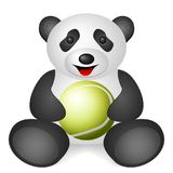 Panda tennis ball Royalty Free Stock Images
