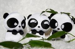 Panda toy. Soft Toy Panda on White Background Stock Photo