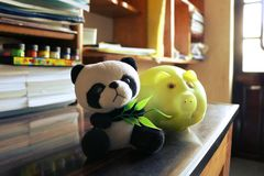 Panda toys stock image