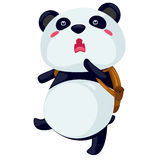 Panda travel. On a white background Royalty Free Stock Photography
