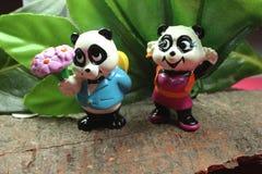 Panda van valentijnskaarten royalty-vrije stock foto's
