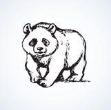 Panda. Vector drawing Royalty Free Stock Photography