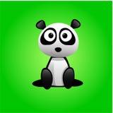 Panda. Vector it a green background Stock Photos