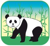 Panda vector hand drawn Royalty Free Stock Photography