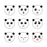 Panda vector icon Royalty Free Stock Photography