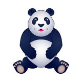 Panda vector illustration, isolated on white background. Royalty Free Stock Photo