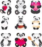 Panda. Vector inzameling Royalty-vrije Stock Afbeeldingen