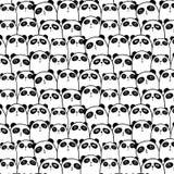 Panda Vector Pattern Background lindo stock de ilustración