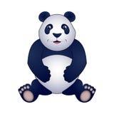 Panda vectorillustratie, die op witte achtergrond wordt geïsoleerd Royalty-vrije Stock Foto