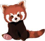 Panda vermelha bonito ilustração do vetor