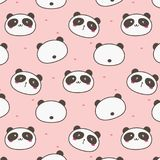 Panda Vetora Pattern Background bonito Garatuja do divertimento ilustração royalty free
