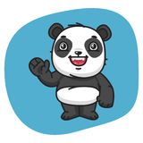 Panda Waving Paw ilustración del vector